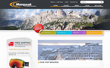 Mainpeak homepage