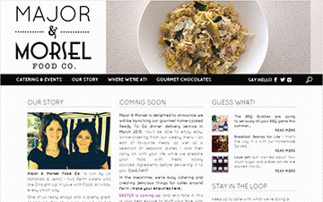 Major and Morsel Food Co Homepage